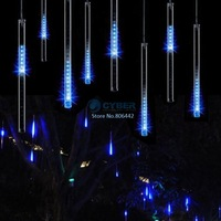 100-240V/EU 30CM Blue Meteor Shower Rain Tubes LED Light For Christmas Wedding Garden Tree Decoration Lamp TK1171