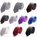New arrival fashion giftware chromophous casual male small tie mens designers long neck ties 17colors Men's clothing accessories