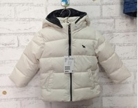 Free Shipping Foreign Trade Product Good Quality  Children Baby Boys And Girls Thick Padded White Jacket