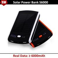 6000MAH Solar power bank portable mobile power bank external battery STD S6000 backup battery portable charger Free Shipping