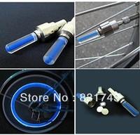 100pcs/lot Bike Bicycle Cycling Car Tyre Wheel Neon Valve Firefly Spoke LED Light Lamp including battery