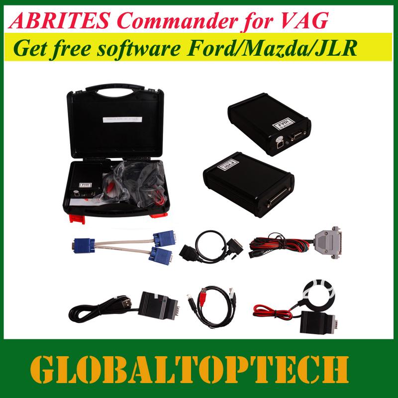 DHL free!VAG ABRITES Commander for VAG-VW, A-udi, Seat, Skoda V21.0+Ford/Mazda+Hyundai/KIA+Tag+VVDI ImmoPlus V13.6 software(China (Mainland))
