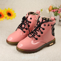 2013  martin boots fashion boots child boots medium cut single boots male child cow muscle outsole