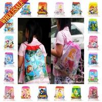 120Pcs Children Backpacks, Cartoon Drawstring Backpack bags,School Bags,Non-woven Material,Children's Day Gift 35X27CM