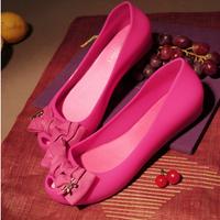 Lissa 2013 melissa crystal jelly shoes flat open toe bow flat sandals