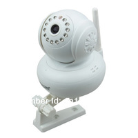 Free shipping 32G TF/SD-Card  WPA Wireless 300k Pixel  Baby Monitor Dual Audio P2P Home Security  White IP CCTV Camera Free DDNS