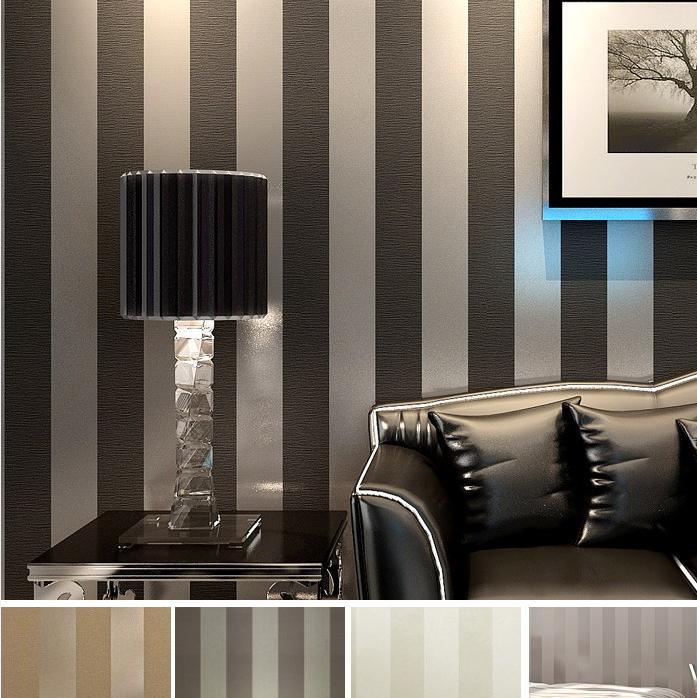 Moderne noir papier peint rayures violet et wall paper - Papier peint pour salon moderne ...