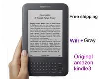 Original amazon kindle3 kindle eBook e-ink screen WIFI 4g electronic paper book plus kindle3  Free shipping