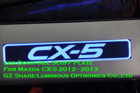 Blue Rectangle Led Door Sill Scuff Plate For Mazda CX-5 2012-2013 4Pcs/set Free Shipping
