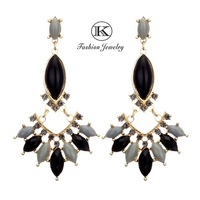 2014 New Arrival Fashion Designer Zirconia Bijoux Women Earring 18k Vintage Dress Fashion Jewelry Crystal Drop earrings