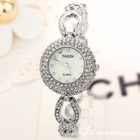 Retail&Wholesale! fashion round ladies wristwatch items diamond wach for women famous brand dress watch top quality