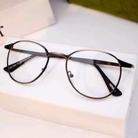 retro full metal myopia glasses frames 2014 Harry Potter plain mirror frames men women's 2014 y561