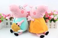 2014 New Brinquedos Peppa Pig Toys Daddy Mummy Pepa Pig Family Plush Dolls Toys,High Quality,30cm 2pcs/set