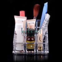 2014 New Arrival Acrylic Cosmetic Makeup Case Lipstick Brush Nail Box Holder Organizer Free Shipping