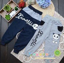 1pcs Children wear wholesale Spring Autumn winter boys girls pants Casual trousers Leisure baby pants monkey Free shipping m06(China (Mainland))