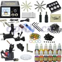 Free Shipping OPHIR 346 Pcs/Set Tattoo Kits for Body Art 2 Rotary Tattoo Machine Guns Tattoo Ink & Needles #TA070