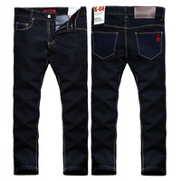 Hot Sale 2013 Brand men's fashion jeans Slim Men Pure individuality jeans small straight leg trousers