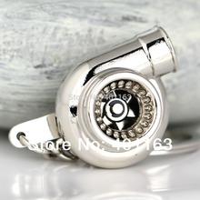 M86097-2 Polished Silvery Car Parts Model Sleeve Spinning Turbo Keychain Key Chain Ring Keyfob Keyring(China (Mainland))
