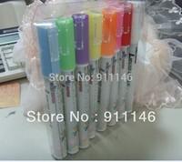 Free shipping  8pcs a set 3mm Electronic neon board neon pen blackboard paint brush drawing pen 3mm3g round toe