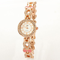 Retail& Wholesale! Mini Diamond Watches Bracelet Casual Watch Rose Gold  watches for womens