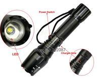 CREE T6 LED Flashlight Torch Sets Zoomable Lamp Light 12W 1000 Lumen 5 Mode Black B2 TK0151