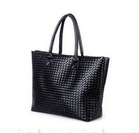 Free shipping 2014 Hot Selling Women PU Leather Handbag Tote Shoulder Bags Large Capacity PU Weave Messenger Bags Fashion Design