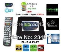 wholesale 10pcs a lot  CS838 XBMC midnight Android 4.2 TV box Amlogic 8726 MX Dual core 1GB 8GB android box xbmc preinstalled
