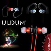Uldum computer mobile phone in ear earphone bass belt sport style headphone