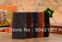 Crazy horse Leather flip cover stand style with card money slot Case For Samsung Galaxy note 3 N9000, wholesale 50pcs/lot