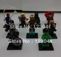 Free shipping 9pcs/lot Super Hero Action Minifigure Building Brick Blocks Figure Toys