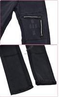 2014 Fashion women's skinny jeans pants Black Color Zipper Embellished Pencil Pants Casual Slim Jeans Trouser 5 sizes 18066