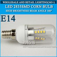 10PCS/lot High brightness led bulb lamp Lights Corn Bulb E14 3W 4W 5W 7W 9W 2835SMD 360 degrees Cold white/warm white AC220V