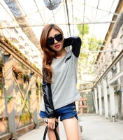 2013 New Fashion Punk Women T Shirt Autumn Long Sleeve Base Shirt Good Quality Casual Women Tops Free Shipping XX041