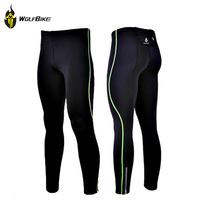 WOLFBIKE Mens Compression Tights Tight Base Layer Skins Running Run Fitness Excercise Cycling Clothing Bicycle Bike Pants Gear