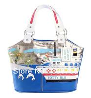 Retail EMS Delivery TB 2013 New Romantic Aegean Sea shipping and Dolphin fashion Women Handbags Handicraft Shoulder Bags Bolsas