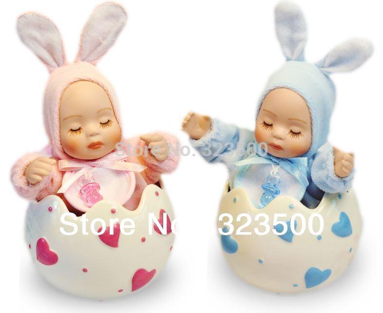 1 par Criativo Music Box manivela cerâmica casca de ovo Dormir Casal boneca de Bobblehead Bom Natal ou presente de aniversário(China (Mainland))