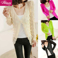 New Arrival  Free Shipping Ladies Fashion Sweater women  Regular Colorful V Neck Cardigans Full Sleeve  JJFS 8809