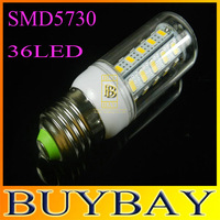 36LED SMD 5730 E27 led corn bulb lamp, 5730 36LED Warm white /white,5730 SMD E27 led lighting,10pcs/lot