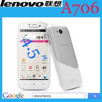 Original Lenovo A706 phone 1.2GHz Quad Core  1GB RAM 4GB ROM  Dual Camera 5.0MP 3G mobile phone