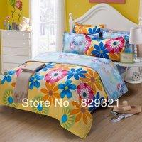 00% cotton floral printed bed sets,bedding sets,bedclothes,purple sheet set,bedspreads,bed sheet,bedlinen for home textiles