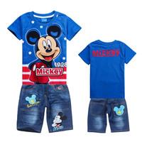 Baby Boy Sports Suit Boys Clothing Set Kids Clothes Sets Children t shirt + Shorts Conjuntos Cotton Vestidos Baby Clothing Set