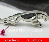 20pcs wholesales Free Shipment  Personalized Car Keychain Metal Silver Stereo Male Business gifts