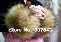 NEW Luxury Women Faux Raccoon Fur Short Winter Wrist Arm Warmer Cuff Wristband
