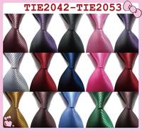 Free shipping men's silk twill pure color tie