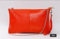 Factory Sale 100% genuine leather chain clutch bag  women messenger bags shoulder cross-body fashion evening party day  handbag
