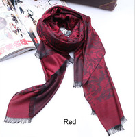 Free Shipping Hot new fashion design Rose pattern Scarf flower Scarves pashmina shawl wrap C02005