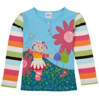 fashion 2014 autumn cartoon baby long-sleeve t-shirts,beautiful kids girls full shirts,comfy toddler kids tops tees,2-6 years