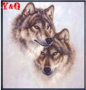 Wolf Husky cross stitch 100% accurate painting High quality animal cross stitch fabric sets handmake kit DIY handmade(China (Mainland))
