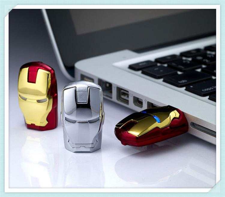 2014 Hot Avengers Pendrive Iron Man USB flash drive 8GB 16GB 32GB 64GB USB 2.0 Flash Memory Stick Drive pen drive(China (Mainland))