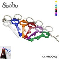 (500pcs/lot )key shape key chain bottle opener wholesale, free shipping,custom laser engraved,multi-colors for promotion